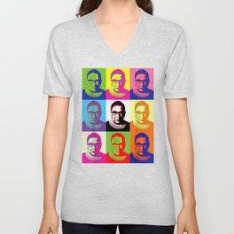 Notorious Ruth Bader Ginsburg - RBG (color block) T-Shirt Unisex V-Neck