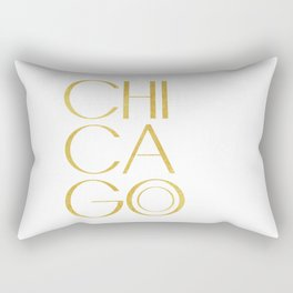 Chicago Print,City Print,Home Decor,Wall artwork,Chicago Poster,Typography Print,Gold Typography,Art Rectangular Pillow
