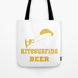 Kitesurfer likes beer Tote Bag