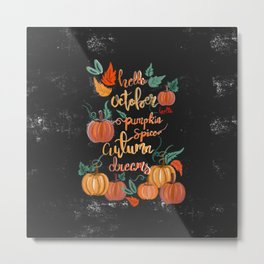 Hello October Metal Print