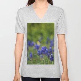 Grape Hyacinth in Spring Unisex V-Neck