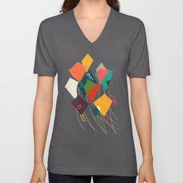 Whimsical kites Unisex V-Neck