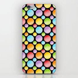 Candy Rainbow Polka Dots iPhone Skin