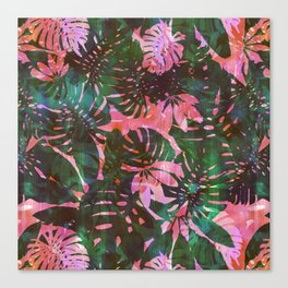 Motuu Tropical pink & green Canvas Print