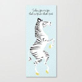 Blue Zebra (Dr. Seuss quote) Left Canvas Print