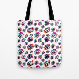 colorful fall floral Tote Bag