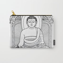 Buddha 02 Black & White Carry-All Pouch