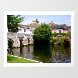 View Of Christchurch Dorset Art Print