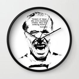 Charles Bukowski Quote Genius Of The Crowd Wall Clock