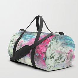Grunge magenta teal hand painted watercolor Duffle Bag