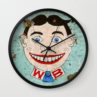 springsteen Wall Clocks featuring Terrible Tilly by Imaginarium Creative Studios