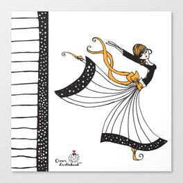 Sophia Butterfly Dancer Canvas Print
