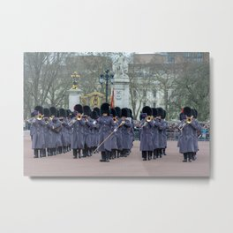 Band Plays During Changing of the Guard at Buckingham Palace London England Metal Print
