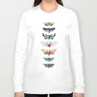 techno Long Sleeve T-shirts featuring Techno-Moth Collection by Zeke Tucker