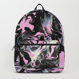 Fluid Acrylic (Black, white and pink) Backpack