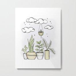 Never Enough Plants Metal Print