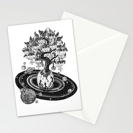 Space tree of Life Stationery Cards