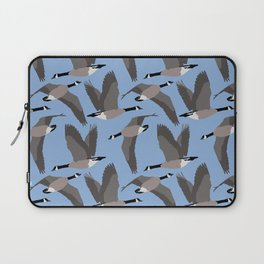 Canada Geese Flying in Blue Laptop Sleeve