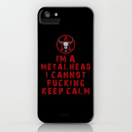 Metalhead Keep Calm iPhone Case