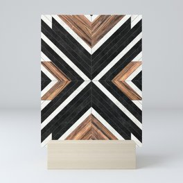 Urban Tribal Pattern No.1 - Concrete and Wood Mini Art Print