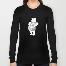 Rumbly in my Tumbly Time for Something Sweet - Winnie the Pooh inspired Print Long Sleeve T-shirt