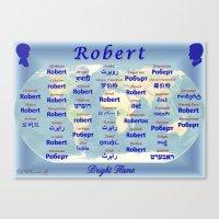 robert farkas Canvas Prints featuring Robert by JMcCombie