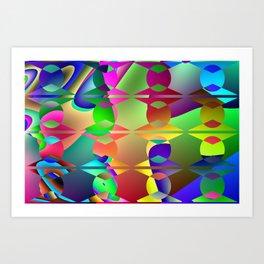 Hidden pattern Art Print
