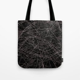 Paris France Map With Coordinates Tote Bag