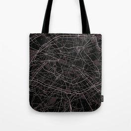 Paris France Map With Coordinates Tote Bag