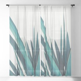 Yucca Leaves Sheer Curtain
