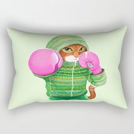 BOXING CAT 4 Rectangular Pillow