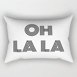 Oh La La - minimal Rectangular Pillow