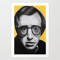 woody allen Art Prints featuring Woody Allen by Black Neon