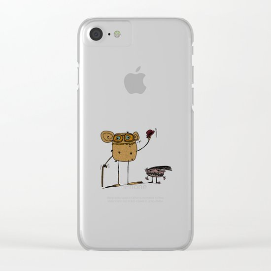 - thinking about family - Clear iPhone Case