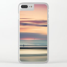 Oceanside Serenity Clear iPhone Case