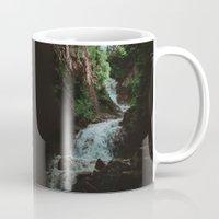 alaska Mugs featuring Alaska Waterfall by Leah Flores
