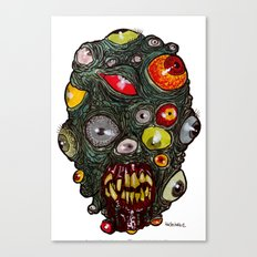 Heads of the Living Dead Zombies: Eye of Balls Zombie Canvas Print