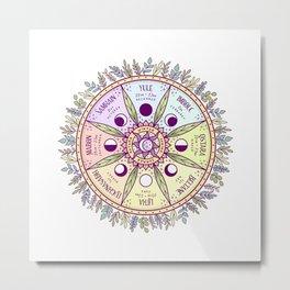 Wheel of the Year Metal Print