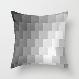 Blocks of Gray Throw Pillow