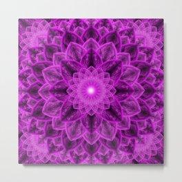 Royal Flower Mandala Metal Print