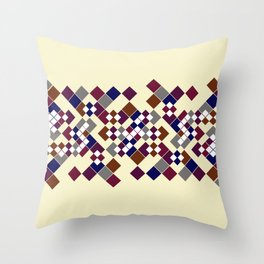 Abstract geometric pattern. Small colored squares on a beige. Throw Pillow