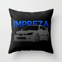 subaru Throw Pillows featuring Subaru Impreza 2006 by Vehicle