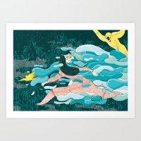 jungle Art Prints featuring Jungle by Elisa Macellari