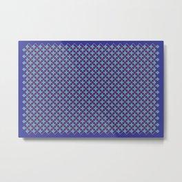 Woven Pattern 1.0 Metal Print