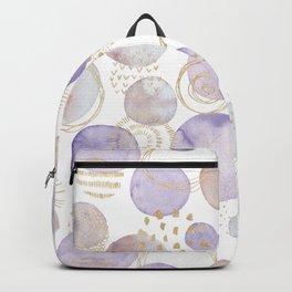 Watercolour Circles | Lavender, Gold & Lilac Palette Backpack
