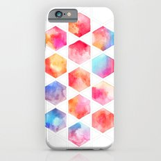 Radiant Hexagons - geometric watercolor painting Slim Case iPhone 6