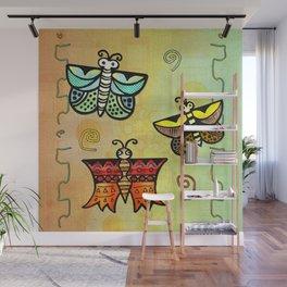 Zuni Butterfly Folk Art Wall Mural