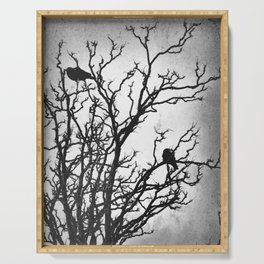 Rustic Crows Black Birds Tree Modern Cottage Chic Art A465B Serving Tray