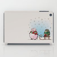 piglet iPad Cases featuring Winter fun by mangulica