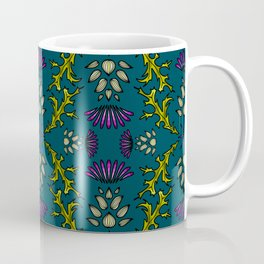 Wild Thistles on Teal Coffee Mug